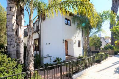 Santa Barbara Condo/Townhouse For Sale: 2316 De La Vina St #A
