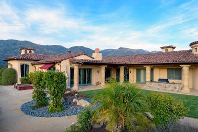 Santa Barbara CA Single Family Home For Sale: $3,495,000