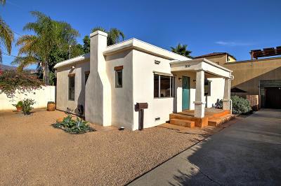 Santa Barbara County Single Family Home For Sale: 810 E Cota St