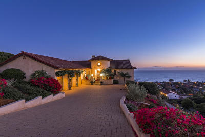 Santa Barbara County Single Family Home For Sale: 1610 La Vista Del Oceano