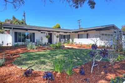 Santa Barbara County Single Family Home For Sale: 389 Via El Cuadro