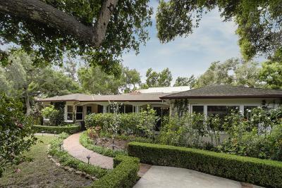 Santa Barbara County Single Family Home For Sale: 605 Romero Canyon Rd