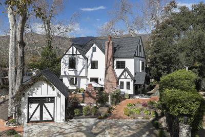 Santa Barbara County Single Family Home For Sale: 67 La Vuelta Rd
