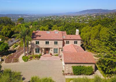 Santa Barbara County Single Family Home For Sale: 1404 Las Canoas Ln