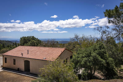 Santa Barbara County Single Family Home For Sale: 5630 W Camino Cielo