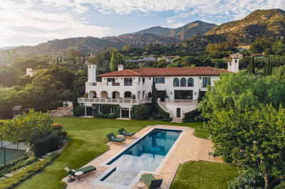 Santa Barbara Single Family Home For Sale: 1475 E Mountain Dr