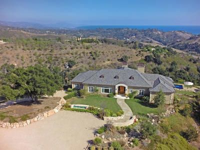Santa Barbara Single Family Home For Sale: 933 West Mountain Dr