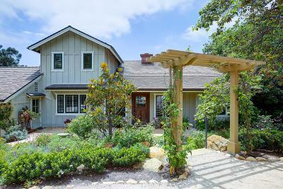 Santa Barbara Single Family Home For Sale: 2885 Hidden Valley Ln