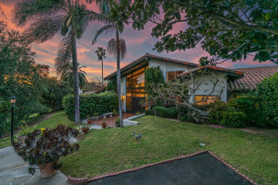 Santa Barbara County Single Family Home For Sale: 4630 Via Vistosa