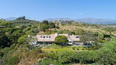 Santa Barbara County Single Family Home For Sale: 320 Asegra Rd