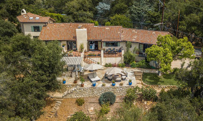 Santa Barbara Single Family Home For Sale: 2970 Hidden Valley Ln