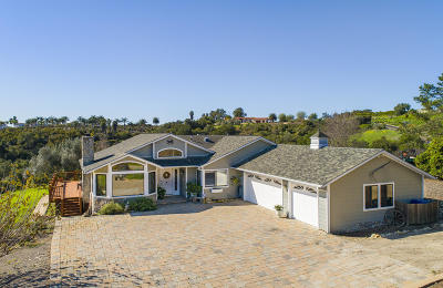 Goleta CA Single Family Home For Sale: $2,295,000