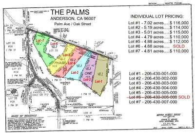 Anderson Residential Lots & Land For Sale: 0001 Palm Avenue
