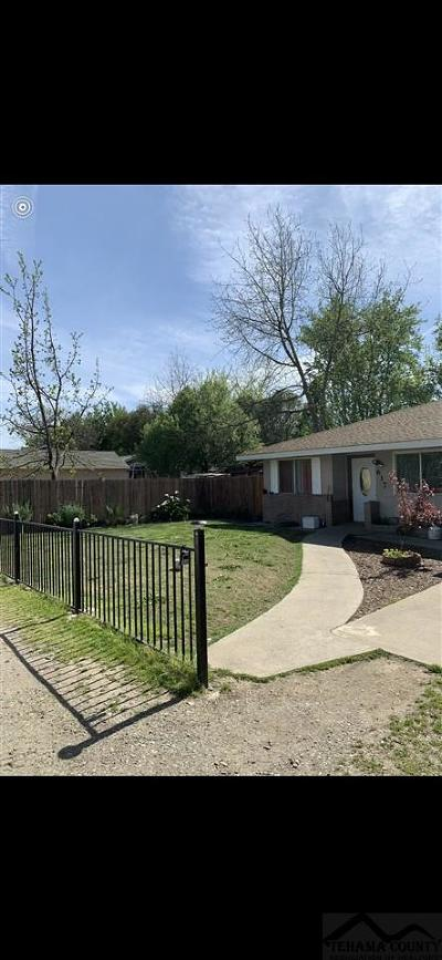 Gerber Single Family Home For Sale: 617 Mariposa Avenue