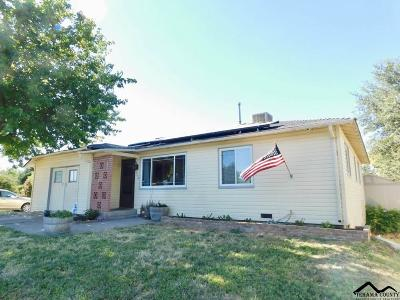 Red Bluff Single Family Home For Sale: 1850 Walbridge Street
