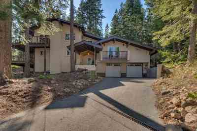 Tahoe City Single Family Home For Sale: 805 Snowshoe Court