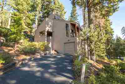 Tahoe City CA Single Family Home For Sale: $749,000