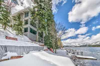 Donner Lake Single Family Home For Sale: 14060 South Shore Drive