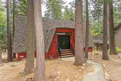 Tahoe City CA Single Family Home For Sale: $675,000