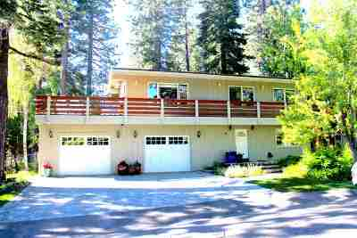 Tahoe City CA Single Family Home For Sale: $1,125,000