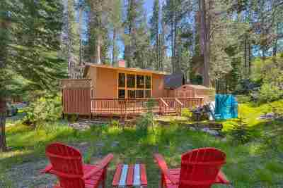 Truckee Single Family Home For Sale: 10090 Tamarack Road W
