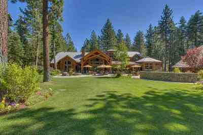 Tahoe City CA Single Family Home For Sale: $7,995,000