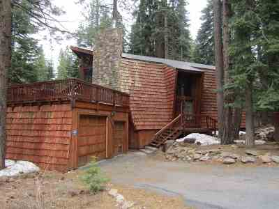 Tahoe Donner Single Family Home For Sale: 14431 Glacier View Road