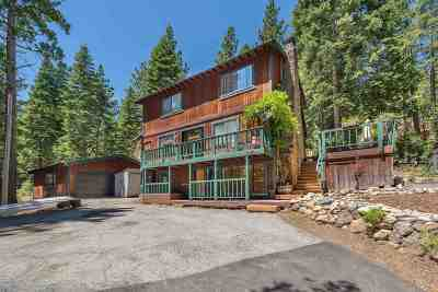 Tahoe City Single Family Home For Sale: 1580 Washoe Way
