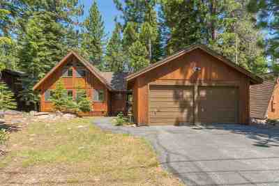 Tahoe Donner Single Family Home For Sale: 14036 Ramshorn Street