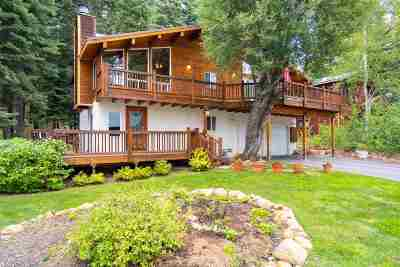 Tahoe City CA Single Family Home For Sale: $825,000