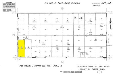 Tulare County Residential Lots & Land For Sale: Rd 224/Ave 64