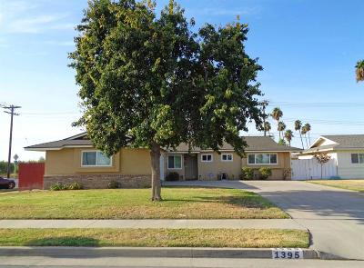 Hanford Single Family Home For Sale: 1395 Lassen Drive