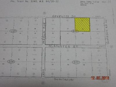 San Bernardino County Residential Lots & Land For Sale: Conventry Street