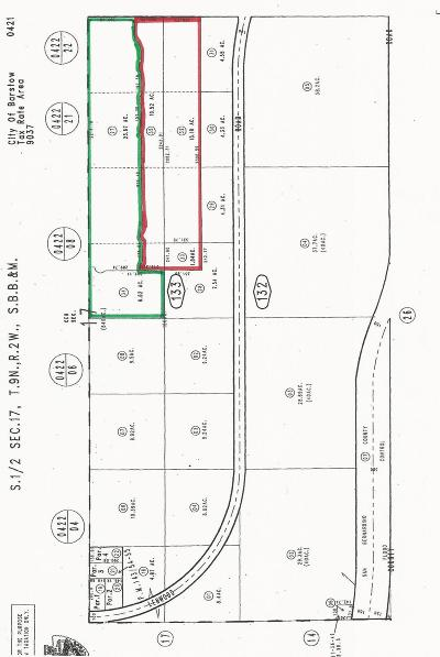 Barstow Residential Lots & Land For Sale: Lenwood Road And Tortoise Road