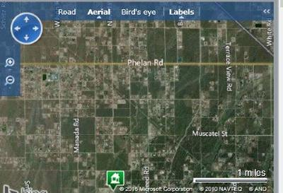 Phelan Residential Lots & Land For Sale: El Centro Road