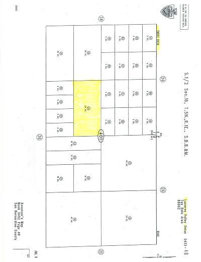 Lucerne Valley Residential Lots & Land For Sale: Visalia Avenue