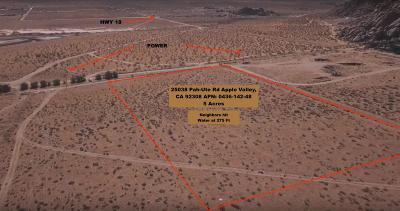 Apple Valley Residential Lots & Land For Sale: 25038 Pah-Ute Road