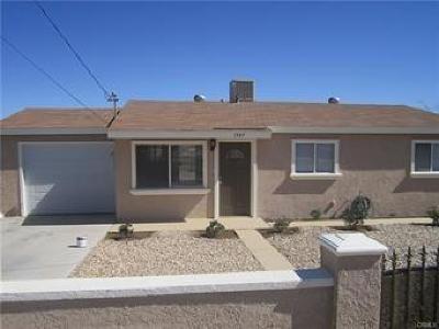 Barstow Single Family Home For Sale: 1547 Riverside Drive