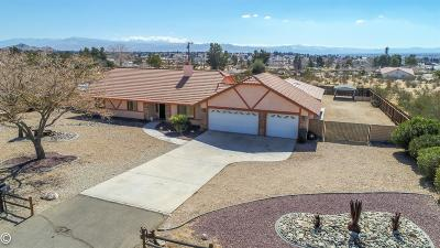 Apple Valley Single Family Home For Sale: 18645 Siskiyou Road