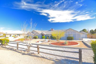 Apple Valley Single Family Home For Sale: 18565 Siskiyou Road