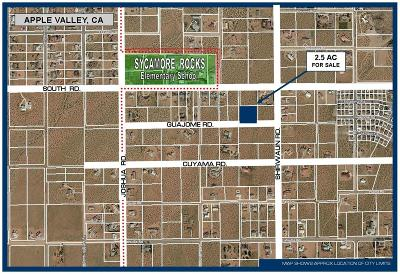 Apple Valley Residential Lots & Land For Sale: Guajome Road