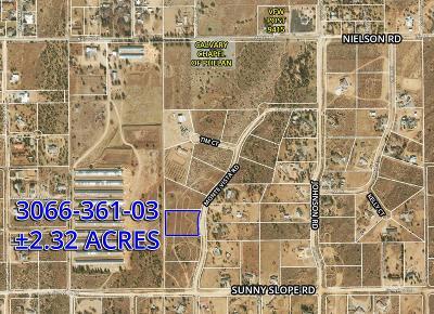 Phelan Residential Lots & Land For Sale: Monte Vista Road