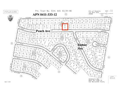Hesperia Residential Lots & Land For Sale: Peach Avenue