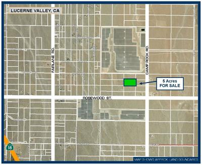 Lucerne Valley Residential Lots & Land For Sale: Near Camp Rock Road