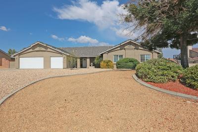 Apple Valley Single Family Home For Sale: 13739 Havasu Road