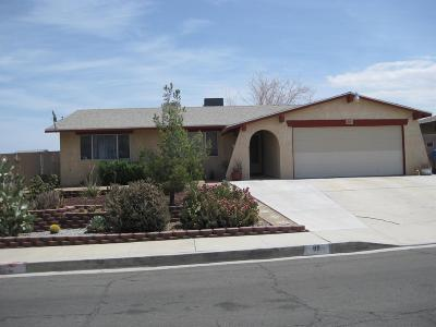 Barstow Single Family Home For Sale: 811 Palo Verde Drive