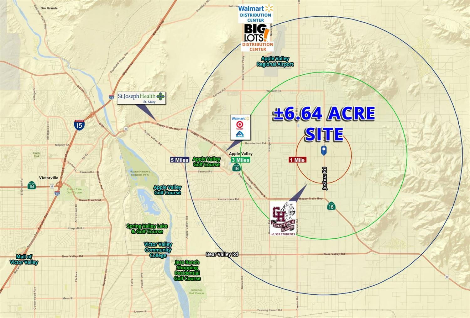 6.64 acres in Apple Valley for $200,000 on brigham city map, fontana map, mt. san antonio map, palm springs map, ventura county map, sacramento map, sonoma co map, santa clara map, downtown l.a. map, moreno valley map, south coast metro map, rancho cucamonga map, banning map, riverside map, imperial valley map, downieville map, canyon crest map, mission gorge map, desert cities map, bernardino county map,