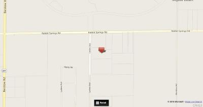 Lucerne Valley Residential Lots & Land For Sale: Ladera Road