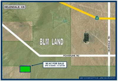 Helendale Residential Lots & Land For Sale: Near Powerline Road