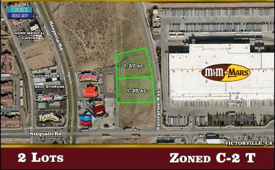 Victorville CA Commercial Lots & Land For Sale: $205,821